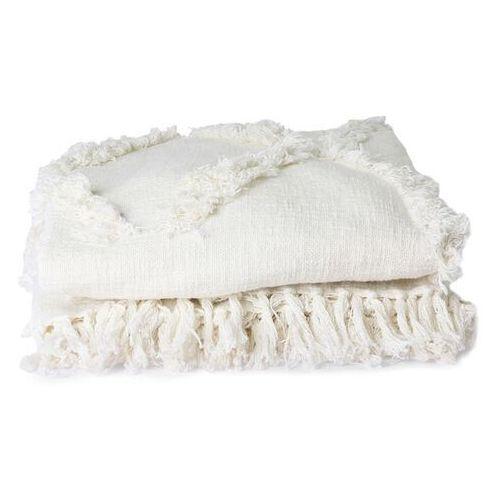 narzuta z frędzlami biała (270x270) tts1029 marki Hkliving
