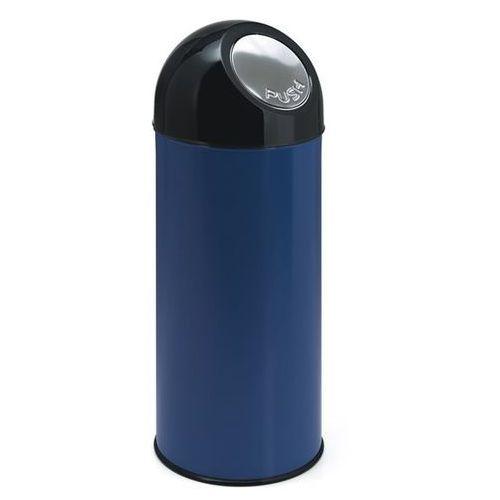 Pojemnik na odpady push, blacha stalowa, poj. 55 l, pojemnik wewn ocynkowany, ni marki Vepa bins
