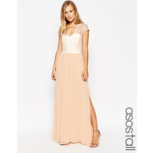 ASOS TALL Scalloped Lace Maxi Dress - Cream