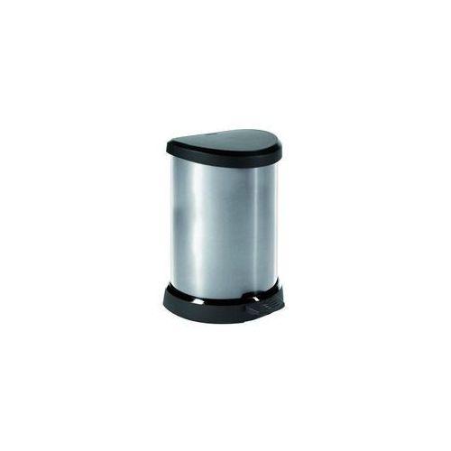 Curver Kosz na śmieci metalizowany 20l z ramką (3253922121019)