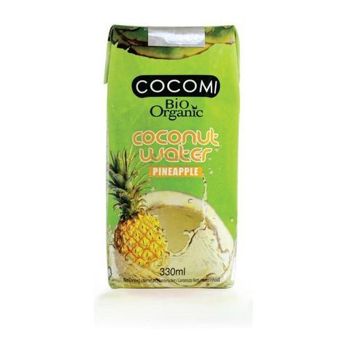 Cocomi (wody kokosowe, oleje kokosowe, śmietanki) Woda kokosowa o smaku ananasa bio 330 ml - cocomi (4792038504020)