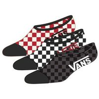 Skarpetki - classic super no show (6.5-9, 3pk) red-white check (rlm), Vans
