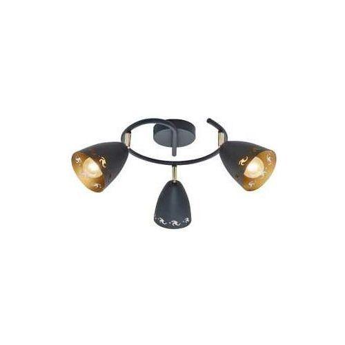 Plafon lampa sufitowa spirala spot coty 3x40w e14 czarna 98-67180 marki Candellux