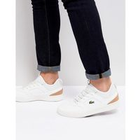 Lacoste Explorateur Leather Trainers In White - White