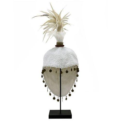 HK Living Ręcznie wykonane papuaskie nakrycie głowy na metalowej podstawie AOA9934, AOA9934