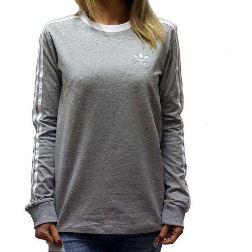 Koszulka adidas 3stripes ls tee bk5874 - odcienie szarego i srebrnego marki Adidas originals