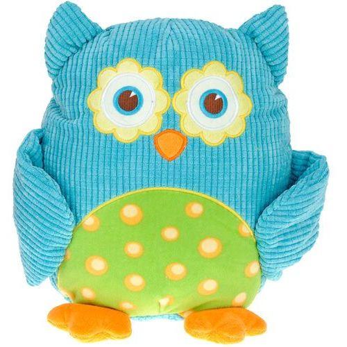 Przytulanka sowa, miękka zabawka, niebieska, 28 cm, 322948970 - niebieska