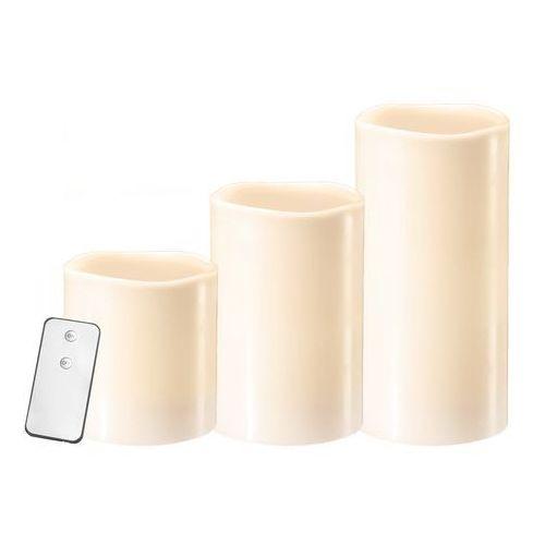 Zext Zestaw 3 szt świeczek woskowych z pilotem (5903874879213)