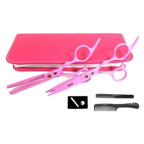 Degażówki 5,5+ Nożyczki Fryzjerskie 6,0 Smith Pink + ZE13-SCH
