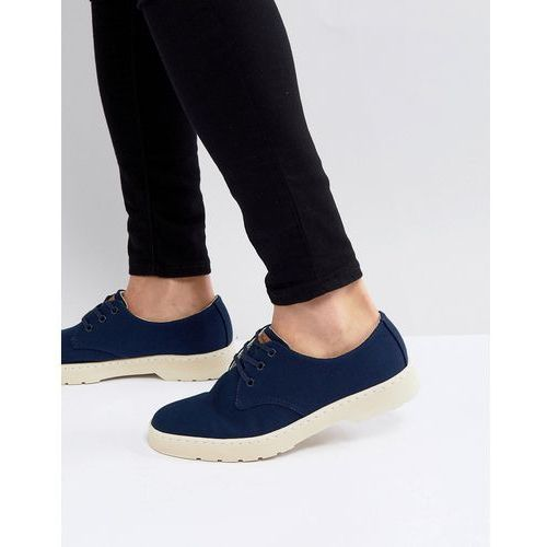 Dr Martens Delray Overdyed 3-Eye Shoes In Navy - Navy, kolor szary