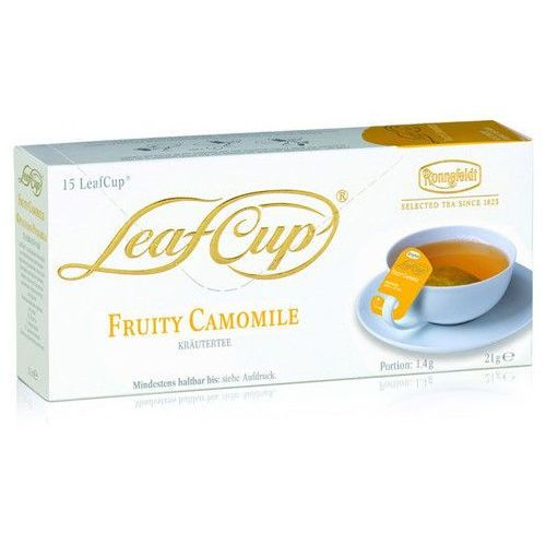 Ronnefeldt Ziołowa herbata  leaf cup fruity camomile 15x1,4g (4006465135604)