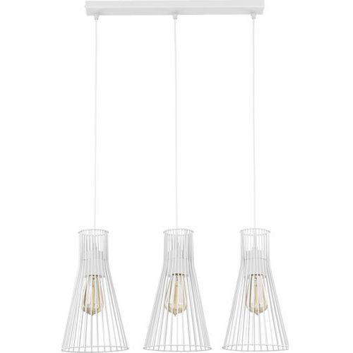 Lampa wisząca druciana zwis TK Lighting Vito White 3x60W E27 biała 1501, kolor Biały