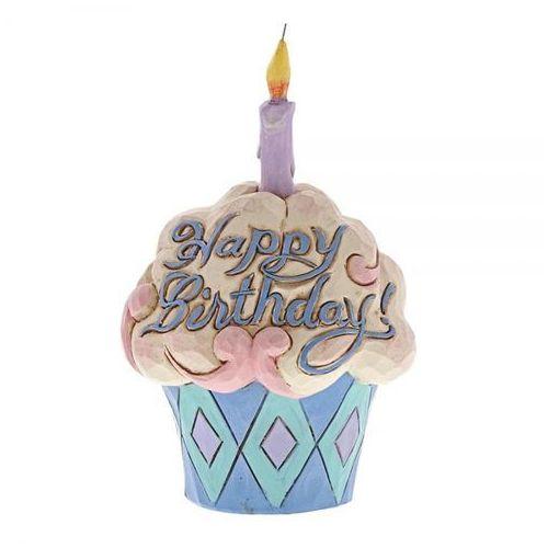 Urodzinowa babeczka mufinka Najlepsze życzenia Mini Birthday Cupcake 4052066 Jim Shore Jim Shore figurka ozdoba świąteczna