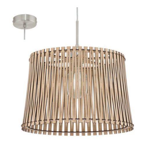lampa wisząca SENDERO średnia odcień drewna, EGLO 96192
