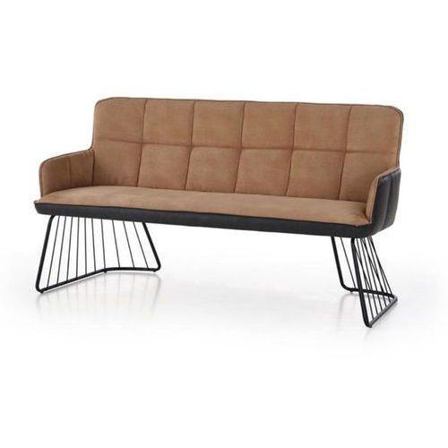 Dover sofa loftowa jasny brąz/czarny marki Style furniture