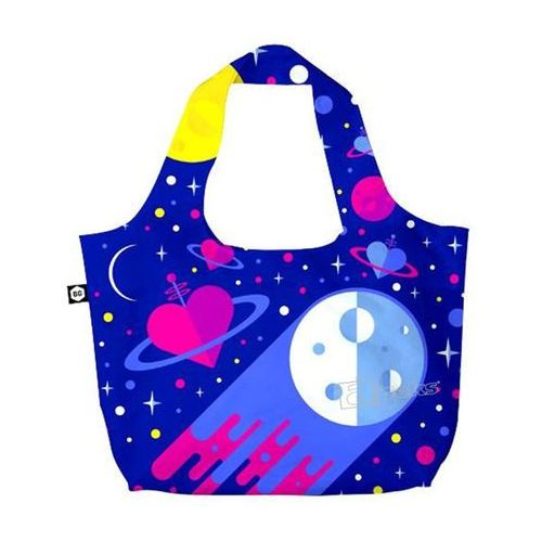 BG Berlin Eco Bags Eco torba na zakupy 3w1 - Cosmic Love, kolor wielokolorowy