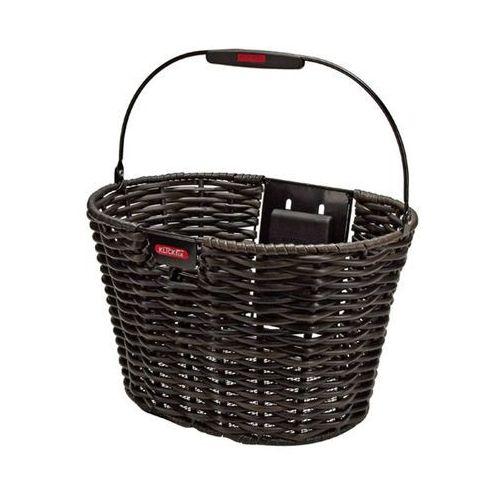 Klickfix structura koszyk rowerowy owalne brązowy/czarny kosze rowerowe na kierownicę