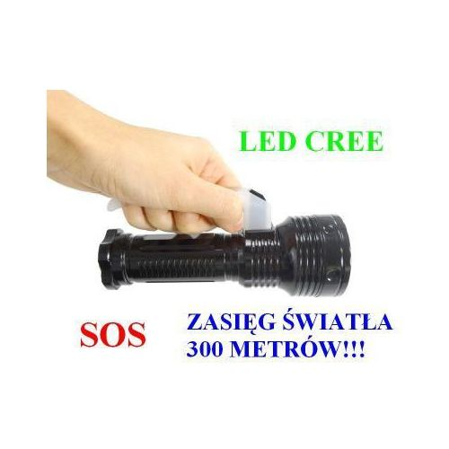 Home appliances Policyjna latarka szperacz (zasięg ok 300m!!) led cree + stroboskop/sos..