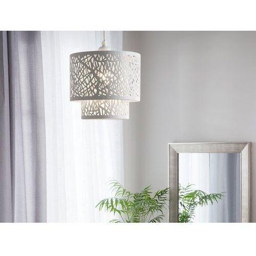 Lampa wisząca metalowa biała SANAGA, kolor Biały