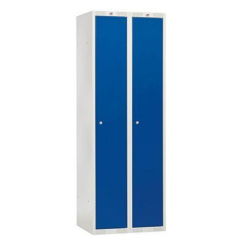 Szafa ubraniowa CLASSIC, 2 moduły, 1740x600x550 mm, niebieski