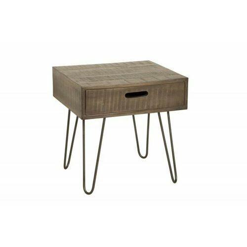 Invicta stolik scorpion 50 cm mango - szare, drewno naturalne, żelazo marki Sofa.pl