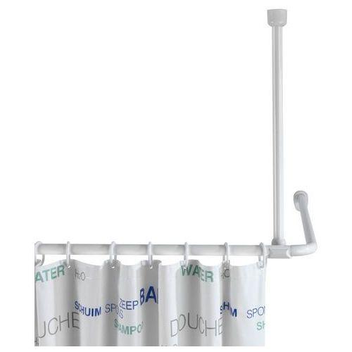 Uchwyt do zawieszenia drążka od zasłony prysznicowej, Ø 2 cm, 57 cm, biały, WENKO (4008838192139)