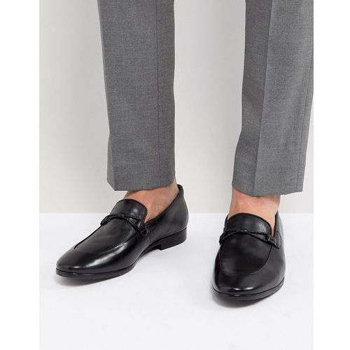 loafers in black leather - black, Dune