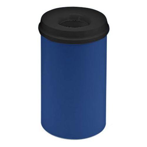 Bezpieczny kosz na papier, poj. 20 l, wys. 426 mm, kobaltowo-niebieski. korpus z marki Vepa bins