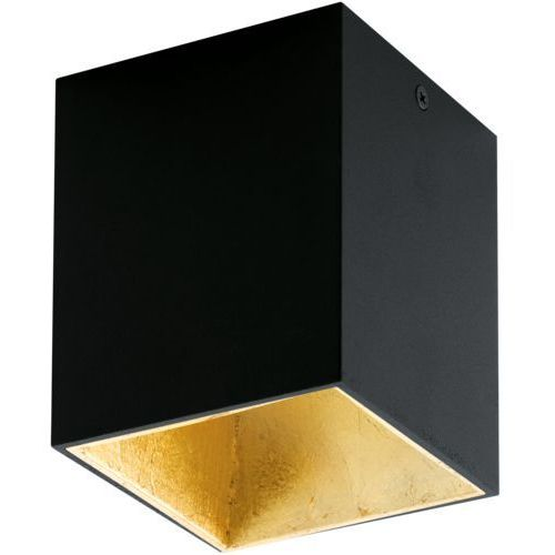 Downlight LAMPA sufitowa POLASSO 94497 Eglo natynkowa OPRAWA kwadratowa plafon LED 3W czarna (9002759944971)