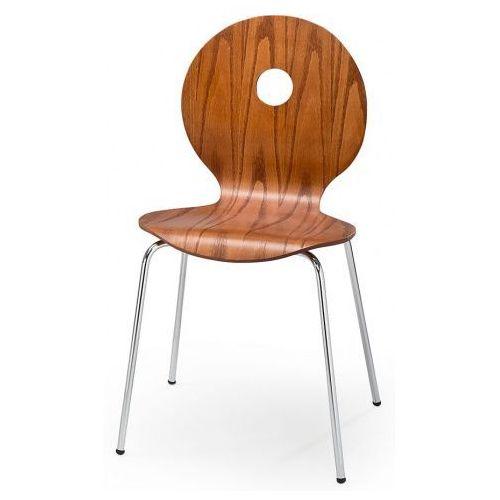 Profilowane krzesło Famis - czereśnia antyczna