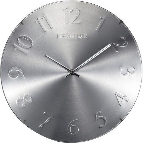 - zegar ścienny elegant dome - srebrny marki Nextime