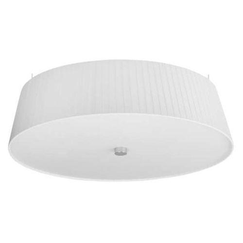 Sotto luce Lampa sufitowa kami elementary l 1/c/white abażurowa oprawa plisowana plafon okrągły biały