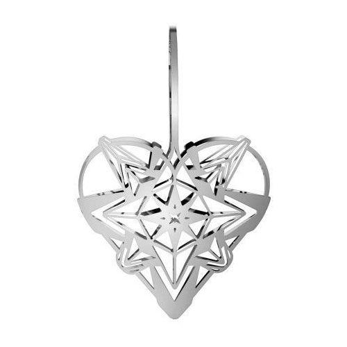 Ozdoba świąteczna serce Karen Blixen, srebrne, 25 cm - Rosendahl, 31351