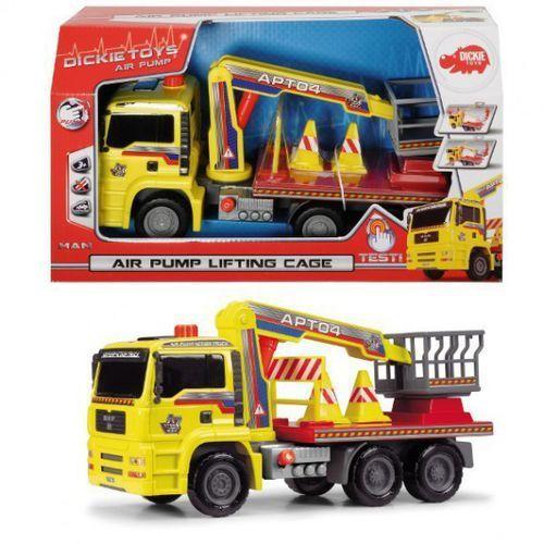 Dickie toys Ciężarówka z podnośnikiem z pompką