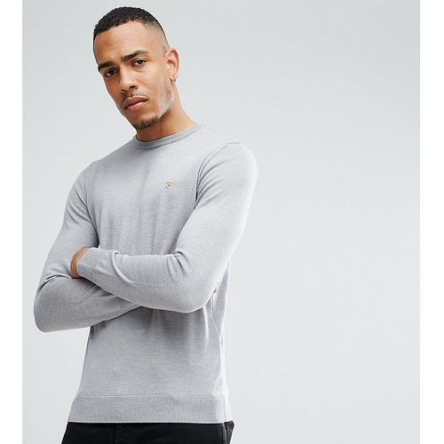 mullen slim fit merino jumper in light grey exclusive at asos - grey marki Farah