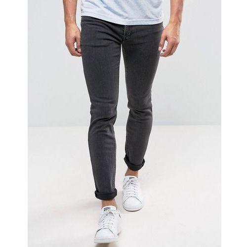 tight skinny jeans key black - black marki Cheap monday