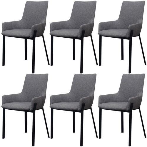 vidaXL Krzesła jadalniane szare 6 sztuk (8718475995517)