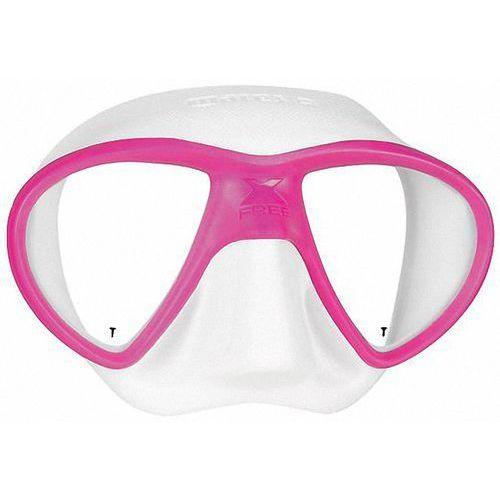 Maska do nurkowania x-free 411060 biało-różowy + darmowy transport! marki Mares