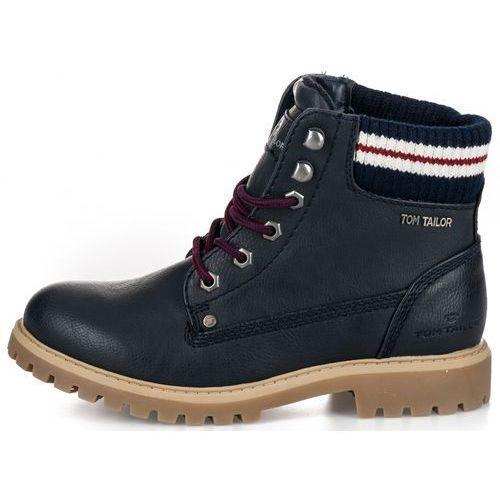 Tom tailor buty za kostkę damskie 36 ciemny niebieski