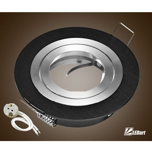 Ledart Oprawa sufitowa aluminium okrągła ruchoma czarny (5902026430883)