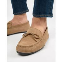 Kg by kurt geiger wide fit ringwood driving shoes in suede - beige marki Kg kurt geiger