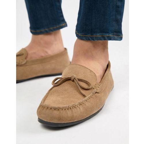 Kg by kurt geiger wide fit ringwood driving shoes in suede - beige marki Kg kurt geiger