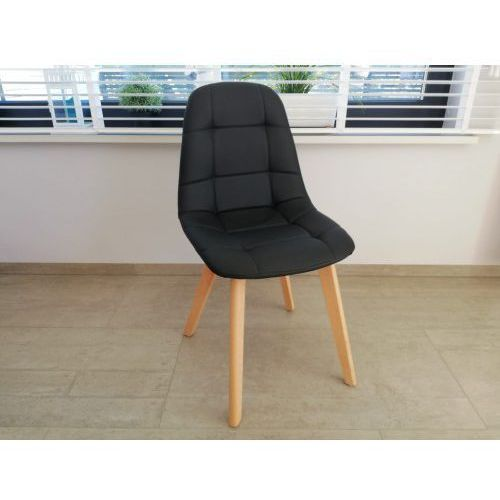 Big meble Nowoczesne krzesło big 021 czarne ekoskóra dostawa 0zł