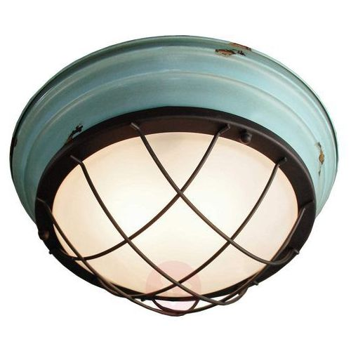 Lampa sufitowa levi w stylu vintage, turkusowa marki Viokef