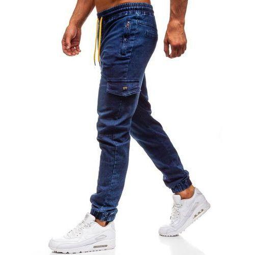 Spodnie jeansowe joggery męskie granatowe Denley Y272A, jeans