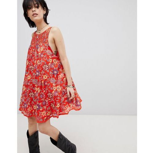 Free people oh baby floral print dress - red
