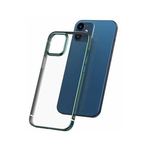 Baseus Shining Case Elastyczne żelowe etui z metaliczną błyszczącą ramką iPhone 12 Pro / iPhone 12 Ciemnozielony (ARAPIPH61P-MD06), kolor zielony