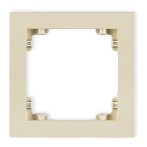 Ramka pojedyncza Karlik Deco 44DR-1 z tworzywa DECO Pastel Matt orzech ziemny, kolor brązowy