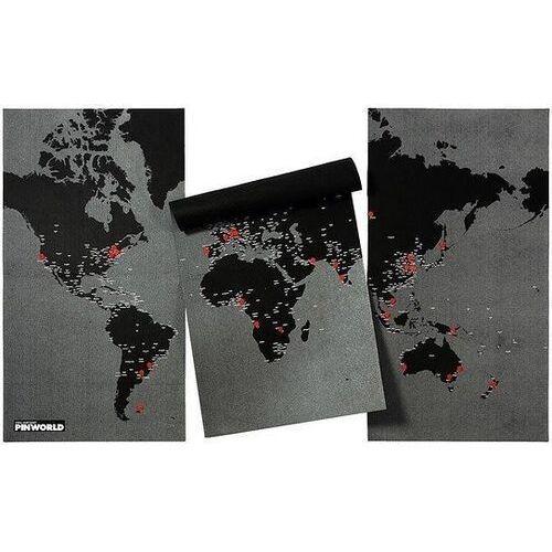 Palomar Dekoracja ścienna xl pin world czarna