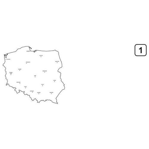 Magnetyczna tablica suchościeralna mapa polski 241 marki Wally - piękno dekoracji